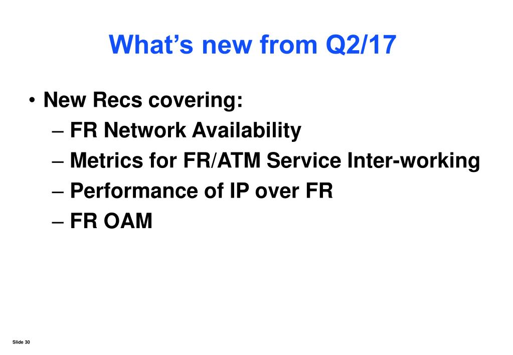 What's new from Q2/17
