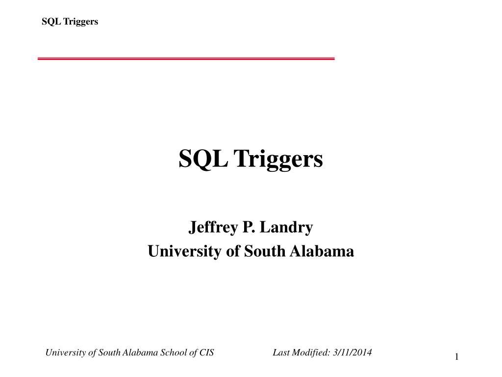 SQL Triggers