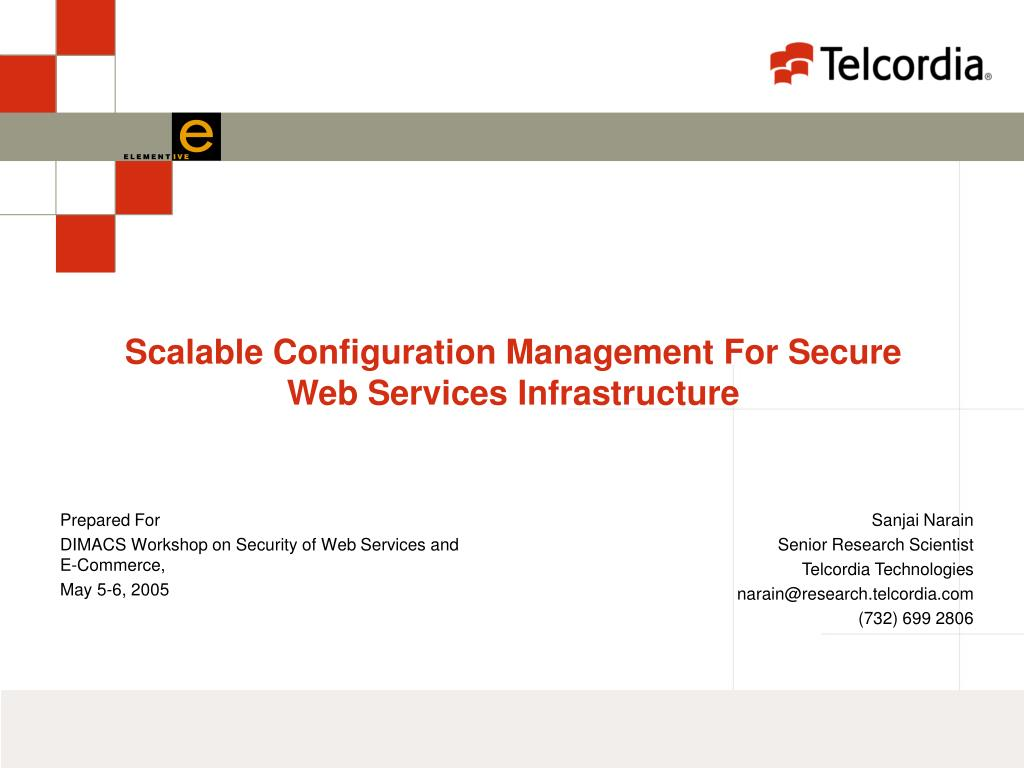 scalable configuration management for secure web services infrastructure l.