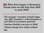 so what does happen to recreation trends when we add data from 2008 to early 2009