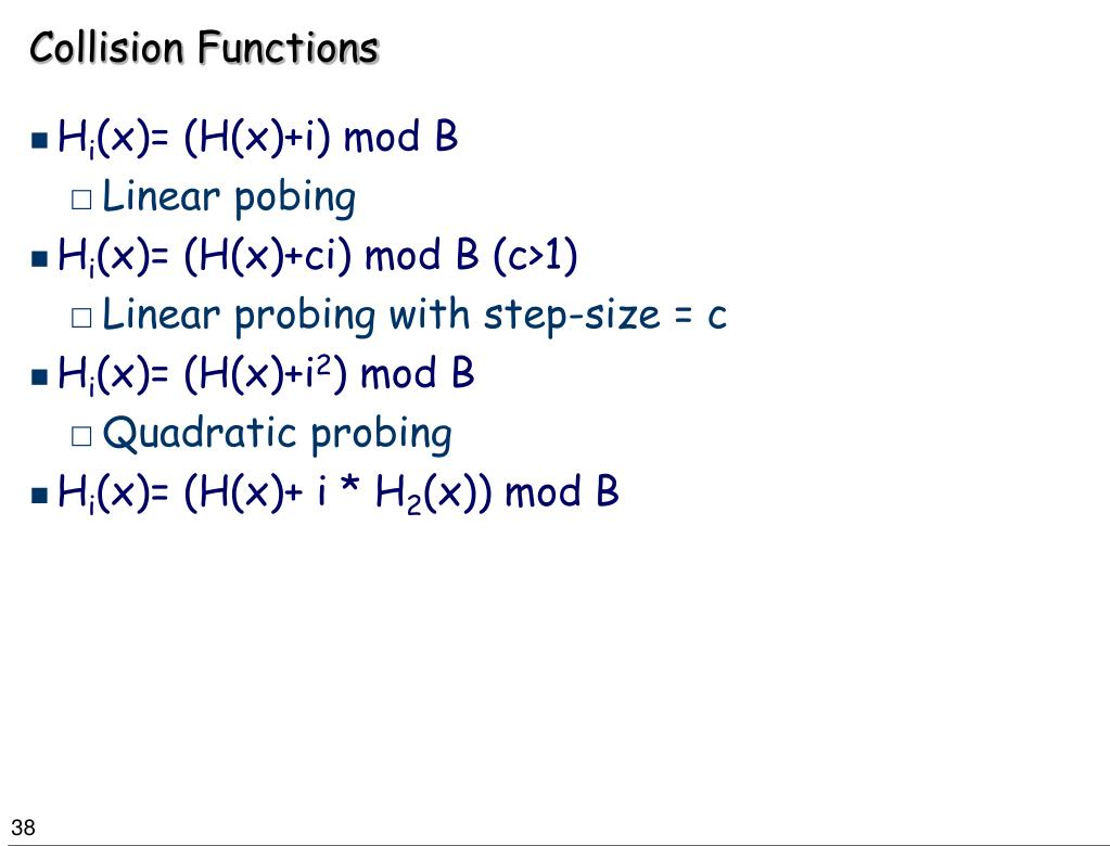 Collision Functions