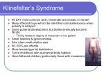 klinefelter s syndrome
