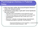 psychological distress in pubertal delay