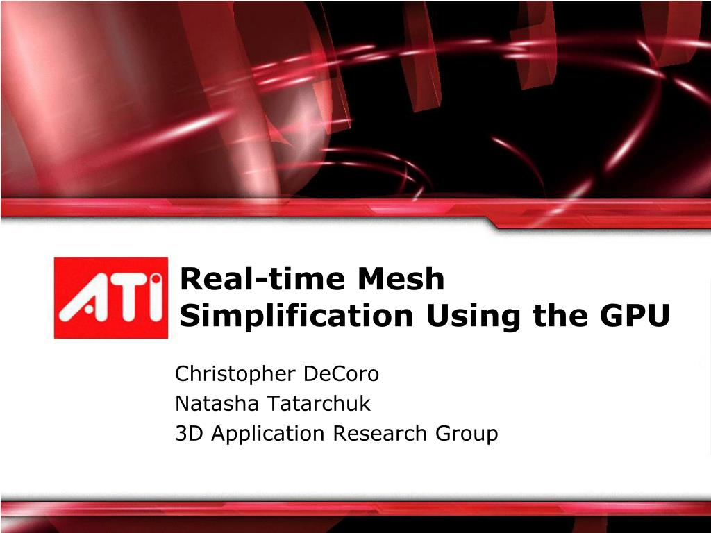 real time mesh simplification using the gpu l.