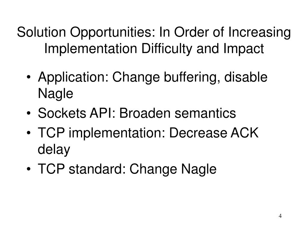 PPT - Interactions Between Delayed Acks and Nagle's Algorithm in
