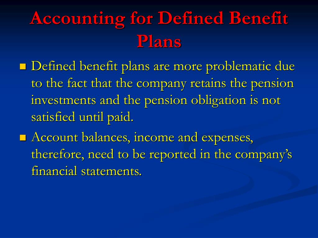 Accounting for Defined Benefit Plans