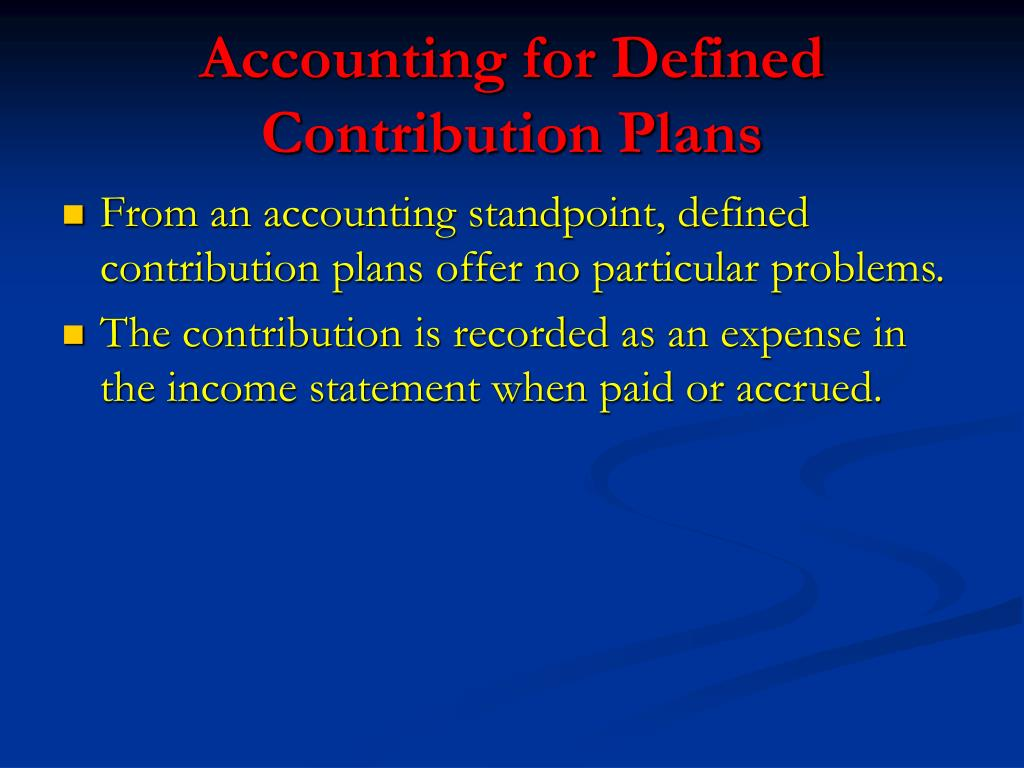 Accounting for Defined Contribution Plans