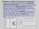 visitation to public lands level to increasing