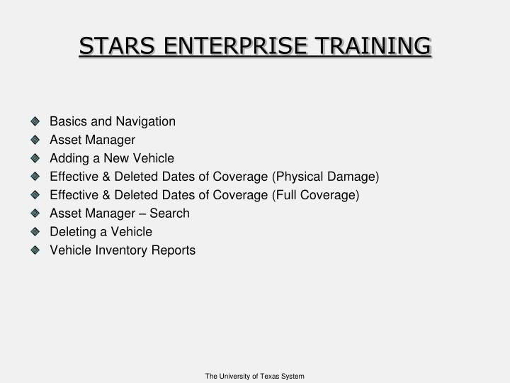 Stars enterprise training