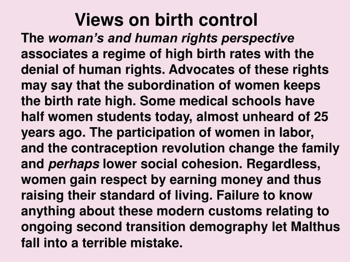 Views on birth control
