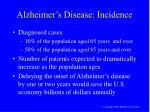 alzheimer s disease incidence