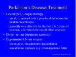 parkinson s disease treatment