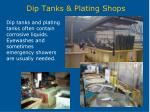 dip tanks plating shops