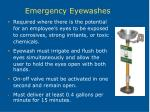 emergency eyewashes