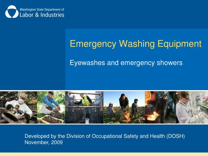 emergency washing equipment n.