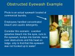 obstructed eyewash example