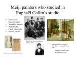 meiji painters who studied in rapha l collin s studio