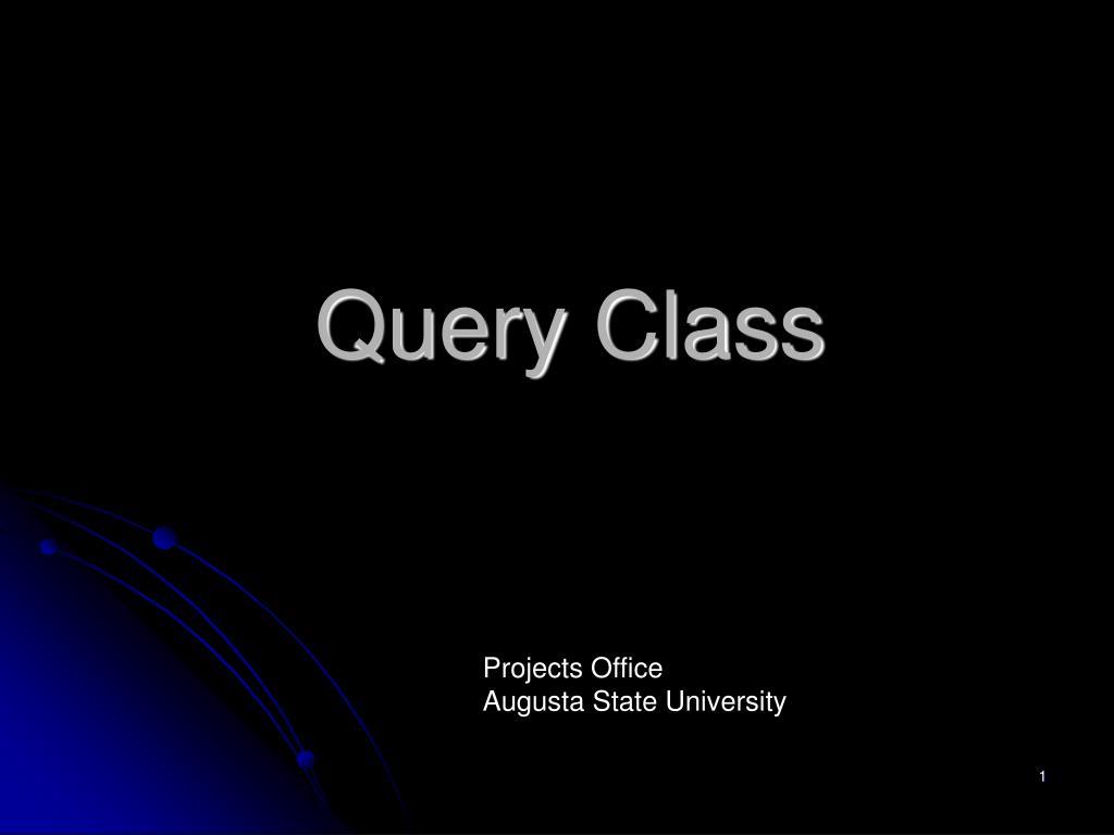 Query Class