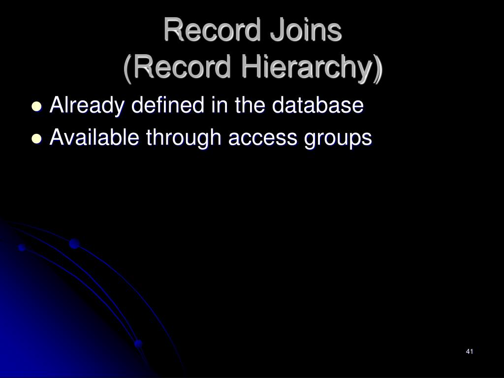 Record Joins