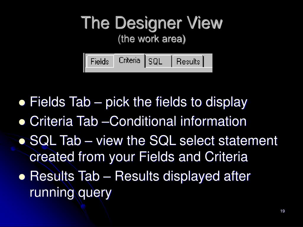 The Designer View