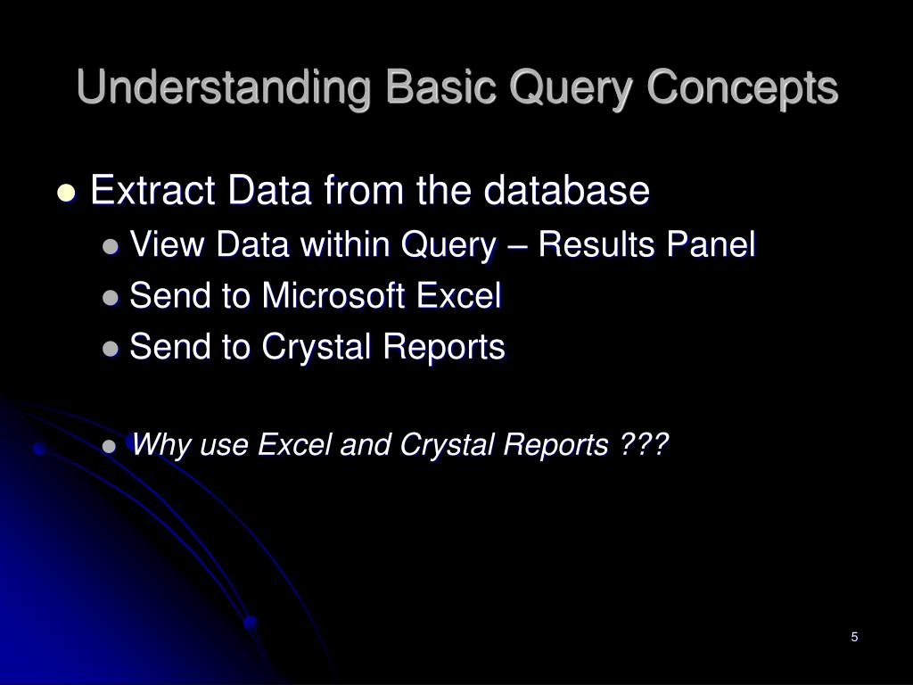Understanding Basic Query Concepts