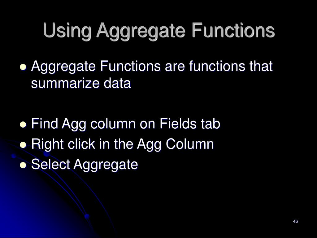 Using Aggregate Functions