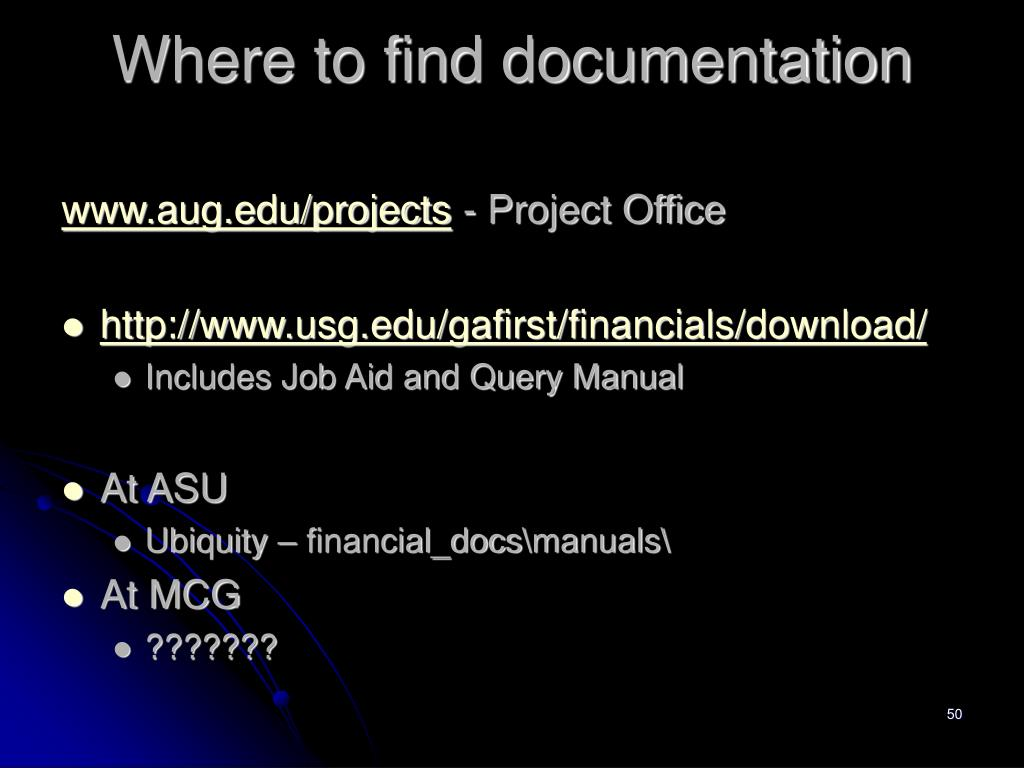 Where to find documentation