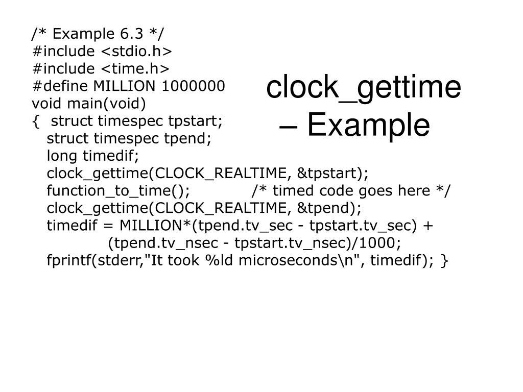 /* Example 6.3 */