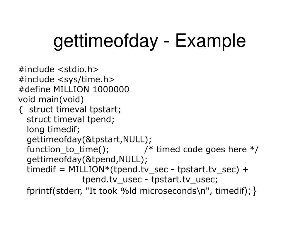 gettimeofday - Example