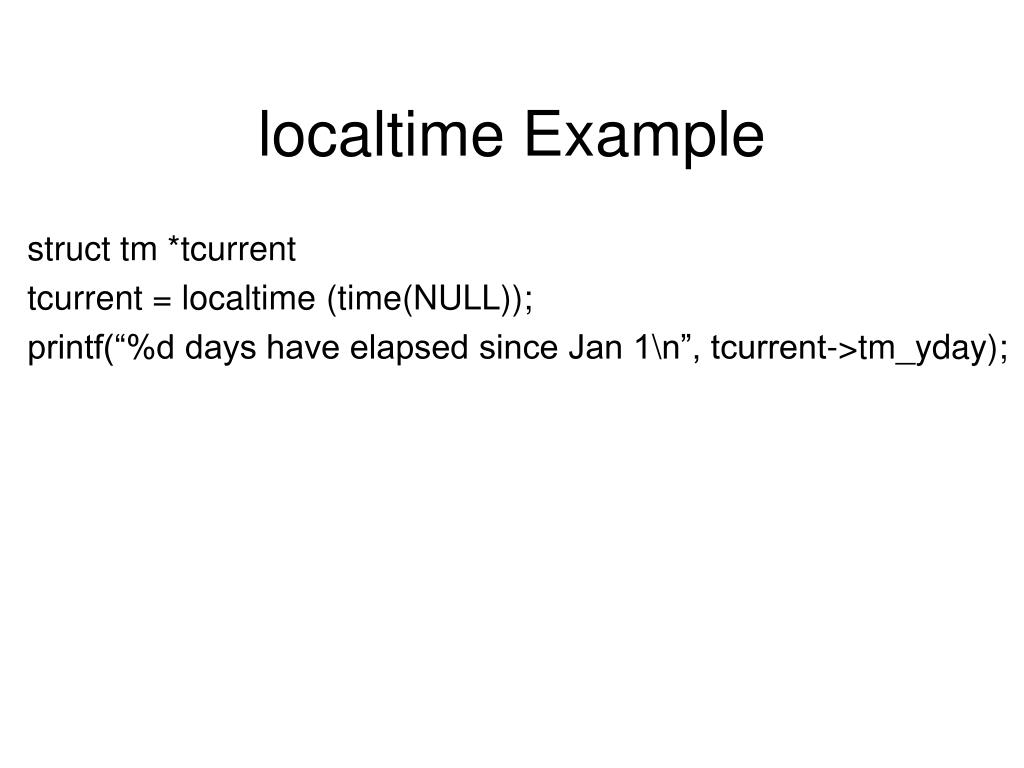 localtime Example