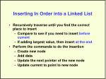 inserting in order into a linked list28