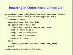 inserting in order into a linked list29