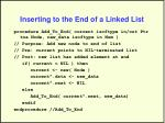 inserting to the end of a linked list