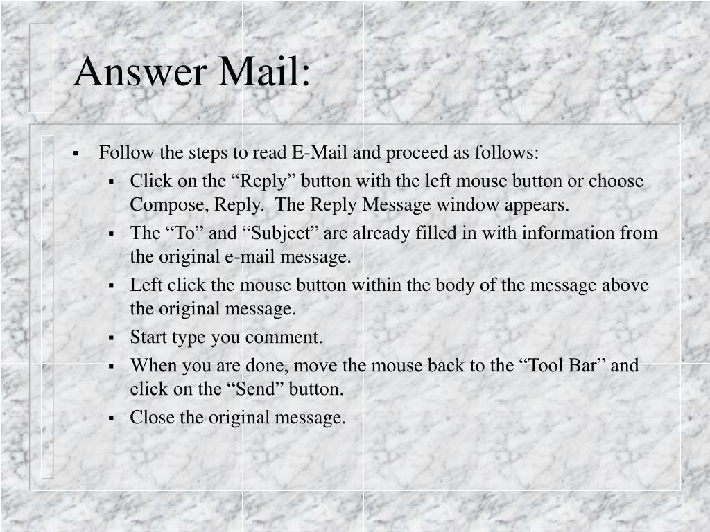Answer Mail: