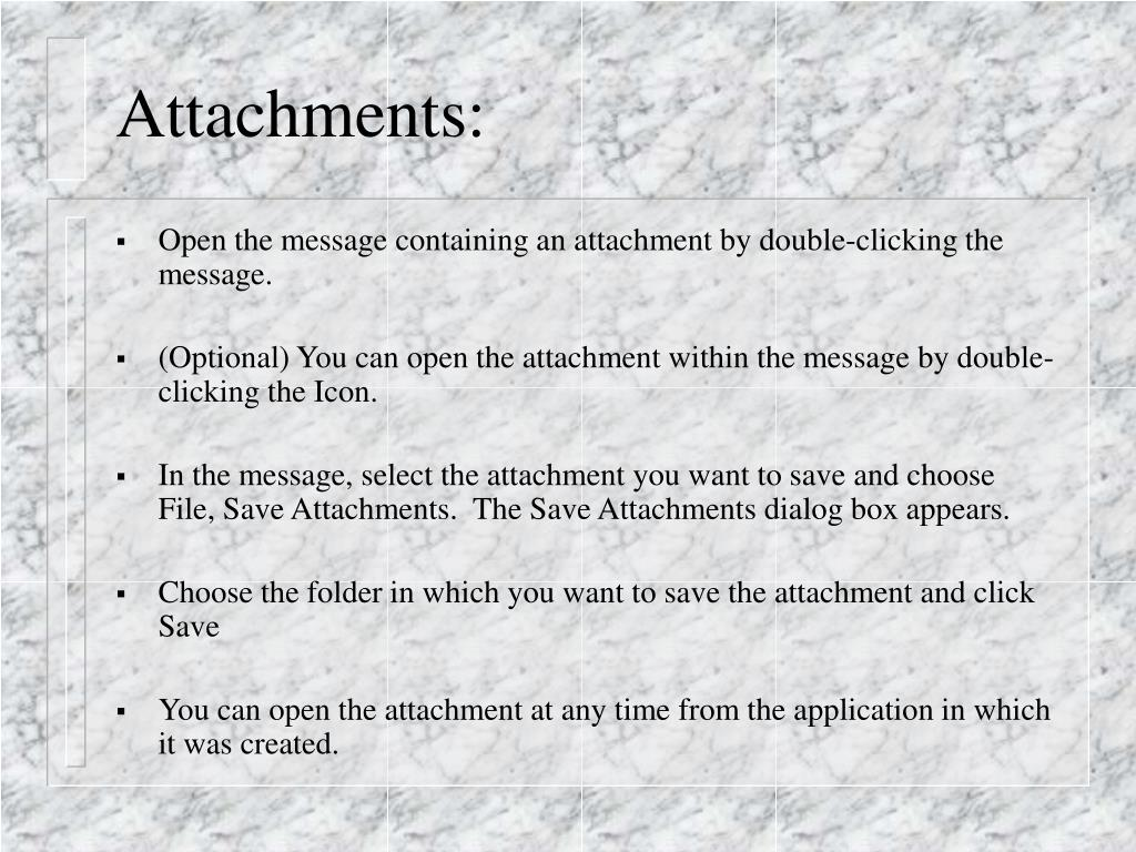 Attachments: