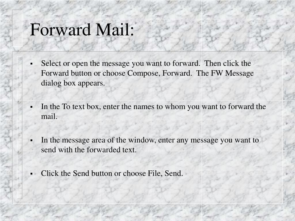 Forward Mail:
