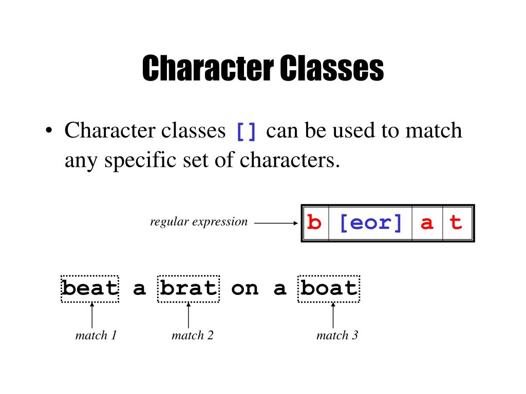 Character Classes