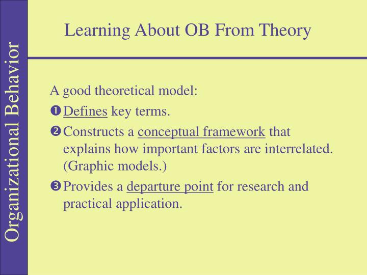 Learning About OB From Theory