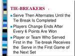tie breakers 3