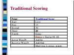 traditional scoring