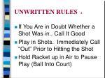 unwritten rules 2