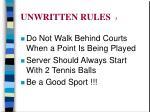 unwritten rules 3