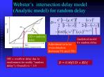 webster s intersection delay model analytic model for random delay