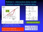 webster s intersection delay model analytic model for uniform delay
