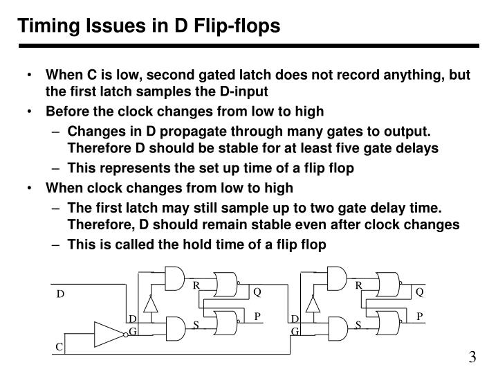 Timing issues in d flip flops