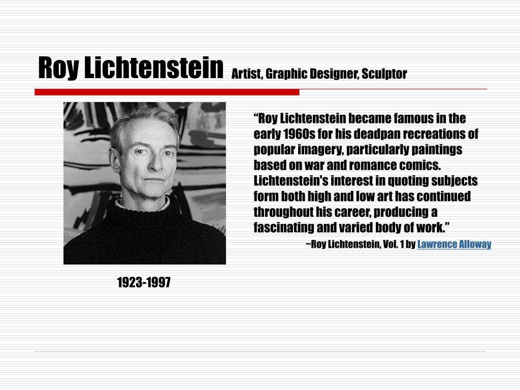 roy lichtenstein l.