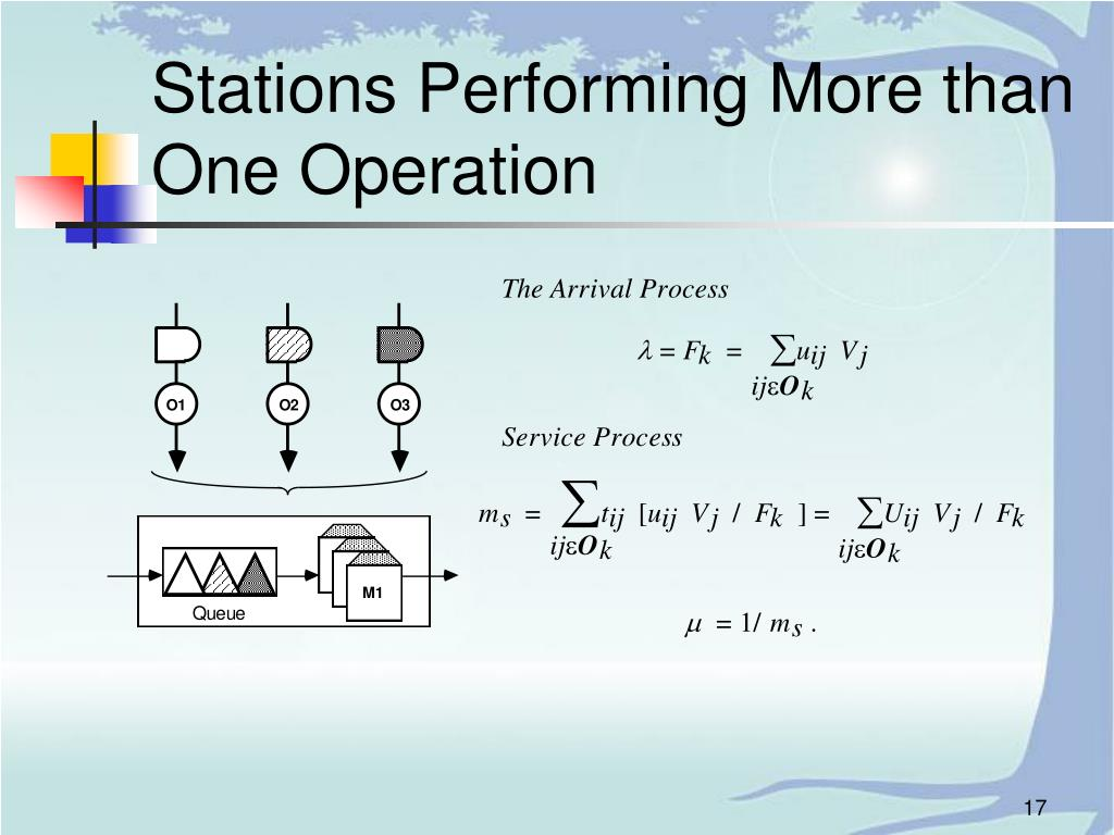 Stations Performing More than One Operation