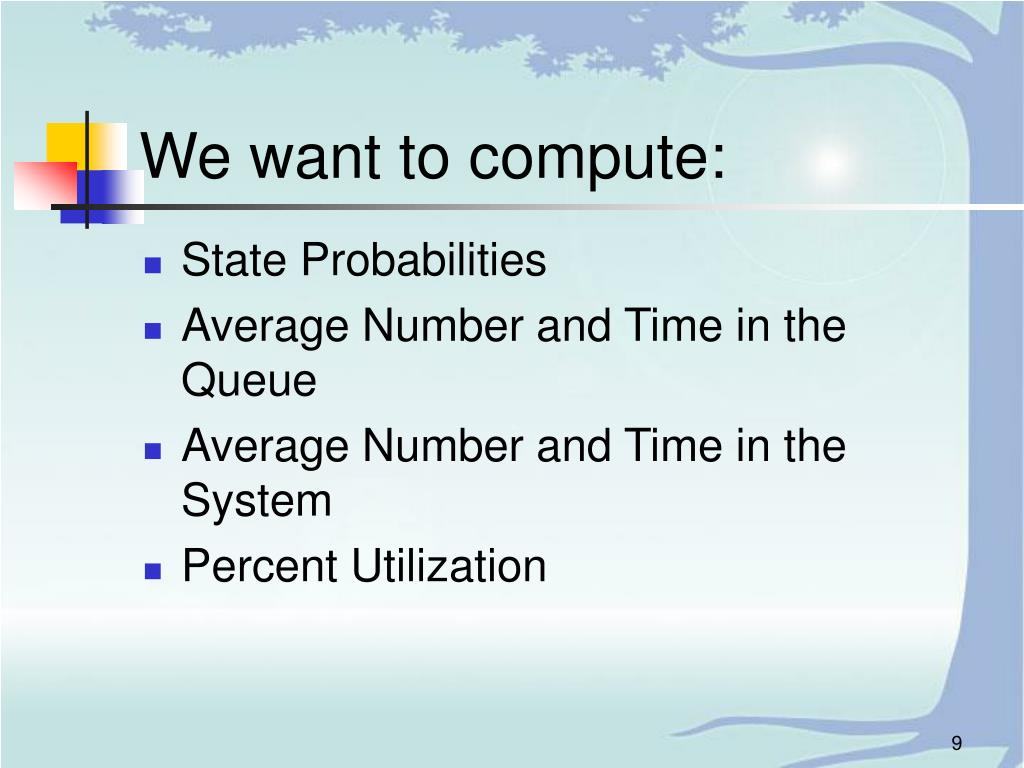 We want to compute: