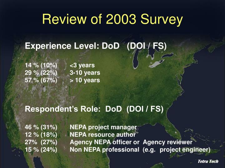 Review of 2003 survey3