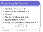 completing the square34